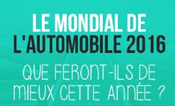 Mondial de l'Automobile 2016 du 1er au 16 octobre
